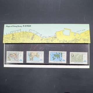 1984年香港地圖主題郵票一套