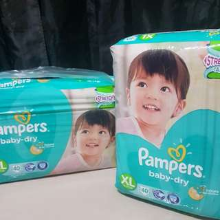 Diapers 2packs (Pampers brand) XL