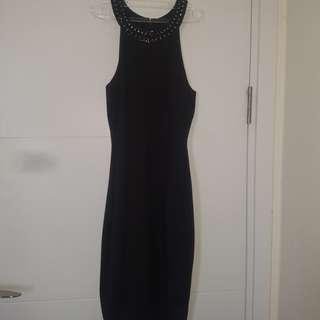 Forever New Black Elegant Dress