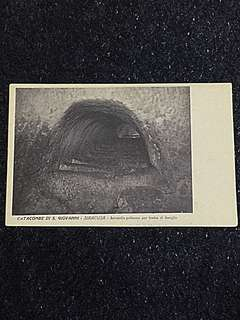 Vintage Postcard Catacombe di S Giovanni Unused
