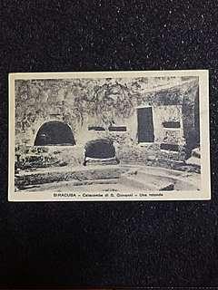 Vintage Postcard Siracusa Catacombe di S Giovanni Unused