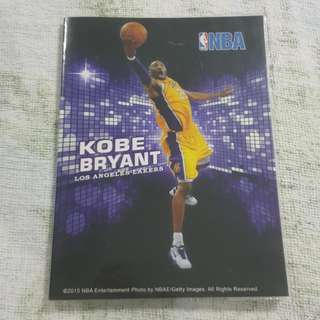 Replica Brand New NBA Kobe Bryant Los Angeles Lakers Notebook