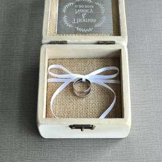 Wedding ring box holder - ribbon