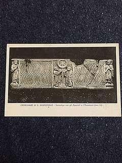 Vintage Postcard Catacombe di S Sebastiano Unused