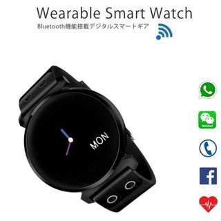 IP68防水智能手錶 - WHATSAPP WECHAT 信息來電顯示/血壓心率監測/計步器/睡眠監測 /遙控影相 Bluetooth Smart Watch