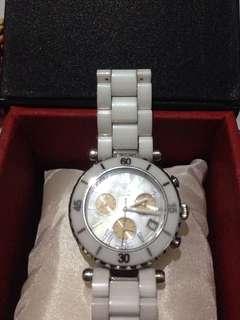 Jam tangan GC diameter 4cm warna putih