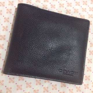 Auth. Coach Double Billfold Wallet in Calf Leather