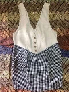 Korean Gingham Dress
