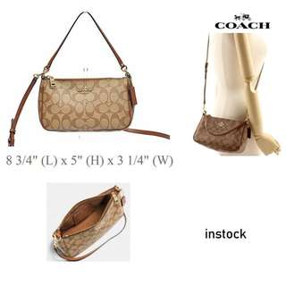 Coach MESSICO TOP HANDLE POUCH IN SIGNATURE F58321