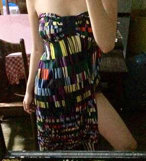 Dress with slit / beach outfit / tube dress