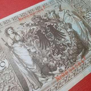 歐洲1910年德意志聯邦共和國古董百年老鈔