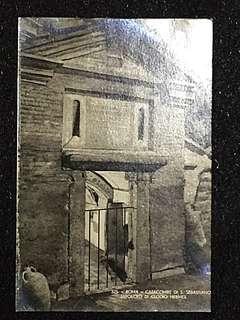 Vintage Postcard Catacombe di S Sabastiano Unused
