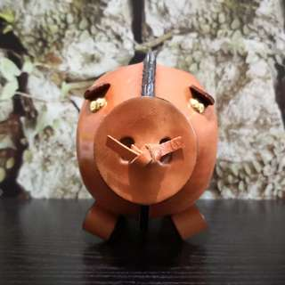 Hand made Leather pig piggy bank