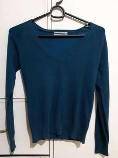 Zara blue knitted top