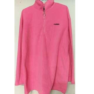 🚚 粉色長袖毛絨衫