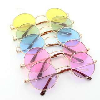 (po)tinted circle glasses