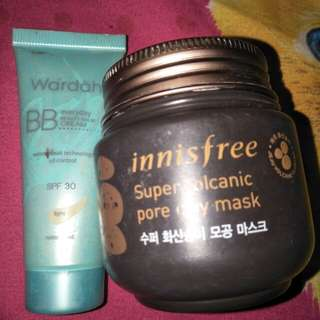 Innisfree dan bb cream wardah
