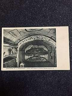 Vintage Postcard Catacombe di S Sebastino Unused
