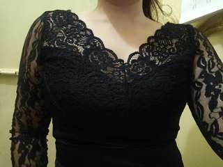 Sexy and Sophisticated Black Lace Top