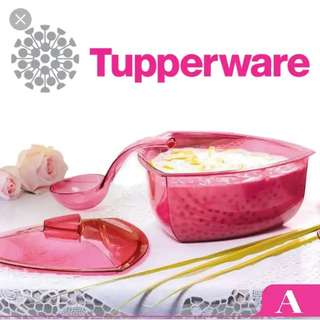 Tupperware Roza triangular server with ladle
