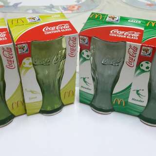 Coke McD Fifa 2010 South Africa Contour Glass