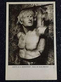 Vintage Postcard Cripta di S Sebastiano Unused