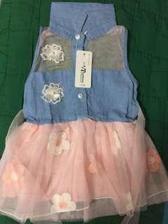 Repriced! New Baby Girl Denim Dress