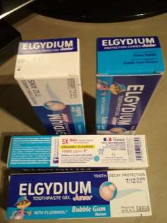 Elgydium toothpaste gel 7-12 years bubble gum flavour