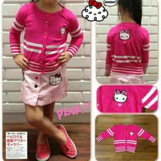 Cardigan anak hello kitty