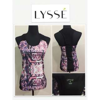 LYSSE Printed Razor Back Tank Top