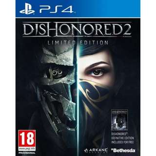 PS4 DISHONORED 2 LIMITED EDT - PAL (M18)