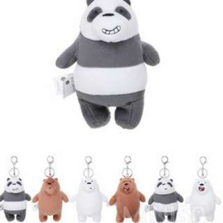 We bare bears keychain