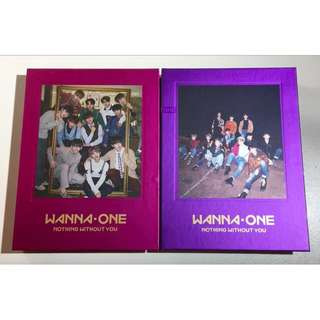 ON HAND UNSEALED ALBUM WANNA ONE NOTHING WITHOUT YOU