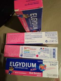 Elgydium toothpaste gel 2-6 year's red berries 50ml