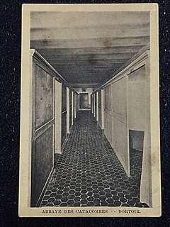 Vintage Postcard Abbaye des Catacombe Unused