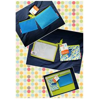 Skip Hop Forget Me Not Kid Cases Lightning Bolt Accessory Pouches Set of 2