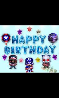 🦄 [Instock] Happy Birthday Party Decor Balloon Sets - Avengers (Captain America / Ironman / Falcon)