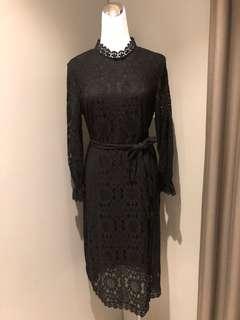 🚚 氣質高雅蕾絲洋裝(有內襯)