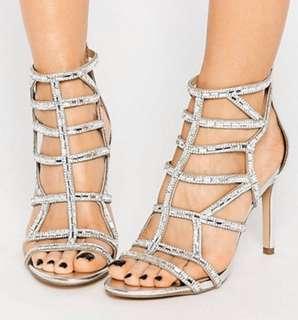 NWOT Aldo Caged Heels Size 7