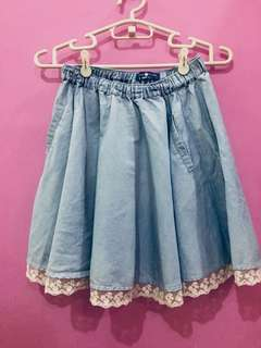 Cache Cache Chambray skirt with pockets