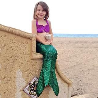 Baju renang mermaid bikini kids