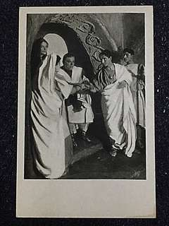 Vintage Postcard Marriage in the Catacombe Unused