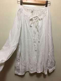 🈚️蝦皮🈚️換貨 韓國🇰🇷全新 領口造型綁帶上衣