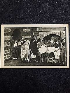 Vintage Postcard Interment of Martyr's Body Unused