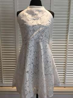 White Lace Haltered Dress