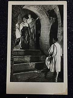 Vintage Postcard Lithurgical Gathering in Catacombe Unused
