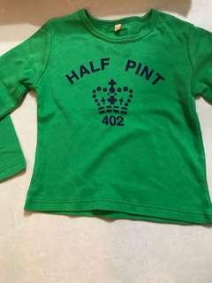 """""""half pint"""" boys top  2-3yrs"""