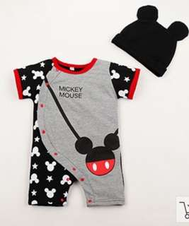 Mickey Mouse Romper with Hat