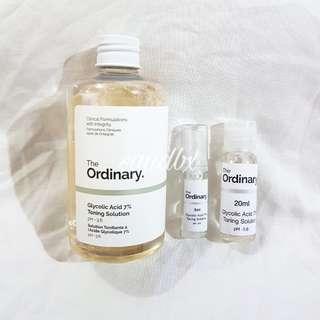 The Ordinary Glycolic 7% Toner 5ml / 20ml