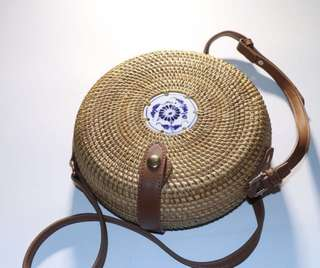FOR PRE-ORDER: Straw Knitted Round Rattan Bag
